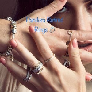 💍Authentic Pandora Retired Rings💍